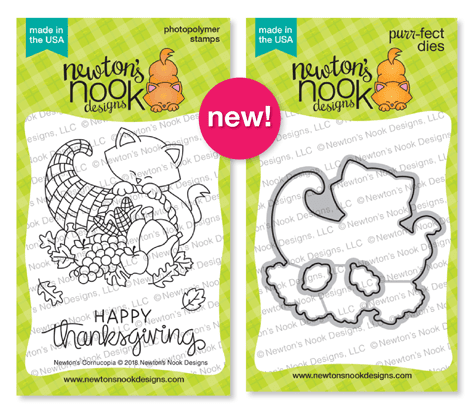 Newton's Cornucopia Stamp and Die Set by Newton's Nook Designs #newtonsnook