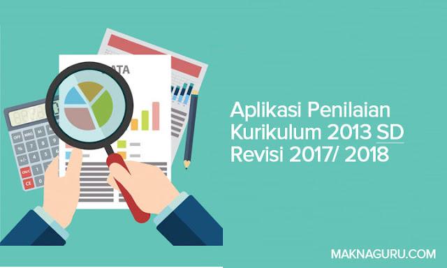 Aplikasi Penilaian Kurikulum 2013 SD Revisi 2017/2018