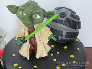 yoda sugar paste cake