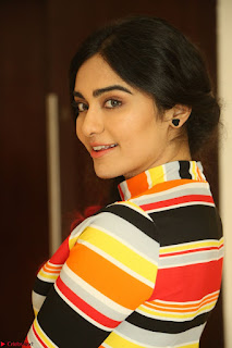 Adha Sharma in a Cute Colorful Jumpsuit Styled By Manasi Aggarwal Promoting movie Commando 2 (98).JPG