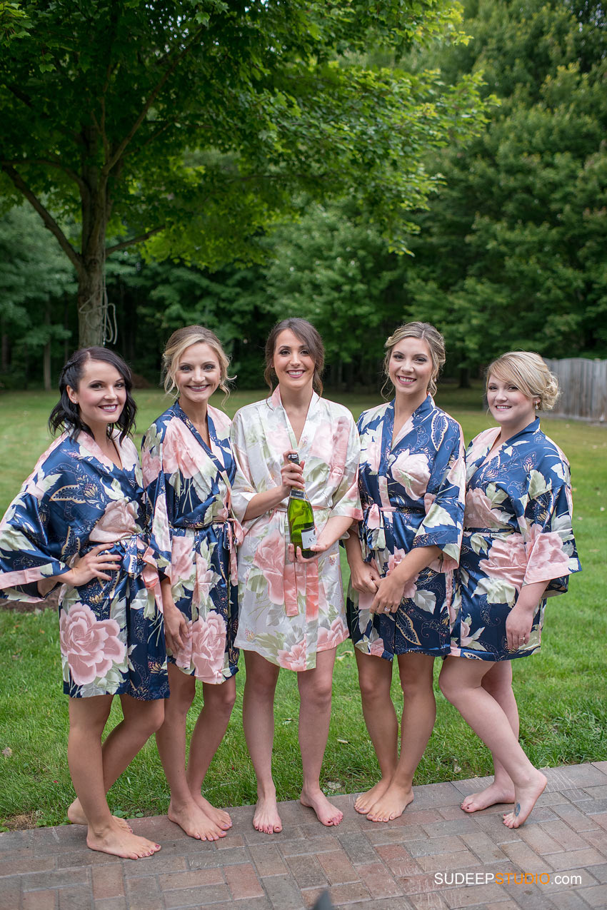 Bridal Party Floral Silk Kimono Bath robes by SudeepStudio.com Ann Arbor Wedding Photographer