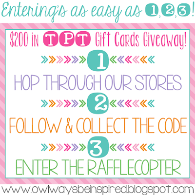Enter to Win One of Eight $25 TeachersPayTeachers Gift Cards!