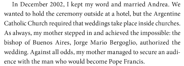 Call me jorge jorge mario bergoglio breaking the rules back in 2002 source pablo escobar my father by juan pablo escobar ebook 2016 p 349 fandeluxe Choice Image