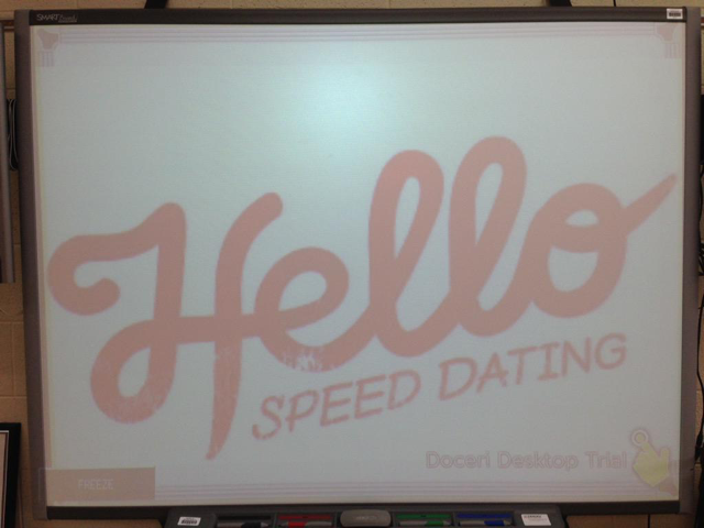 Speed dating get to know you game