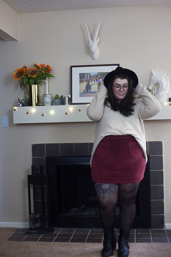 One Outfit, 4 Tights katielikeme.com berkshire legwear outfit