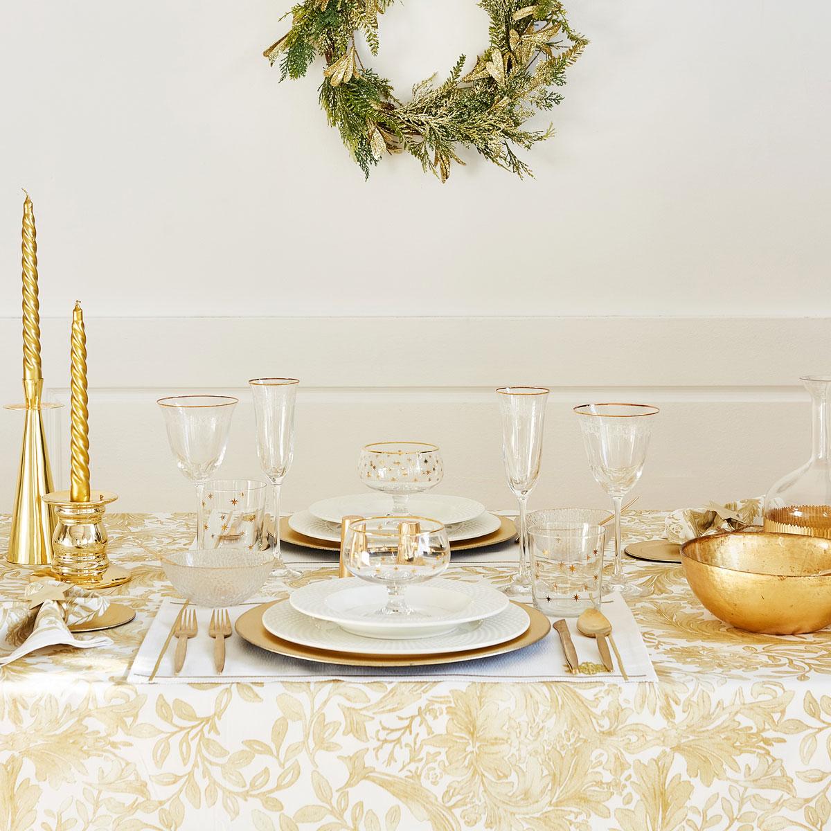 Mesas postas para o natal decora o e ideias for Lamparas de mesa zara home