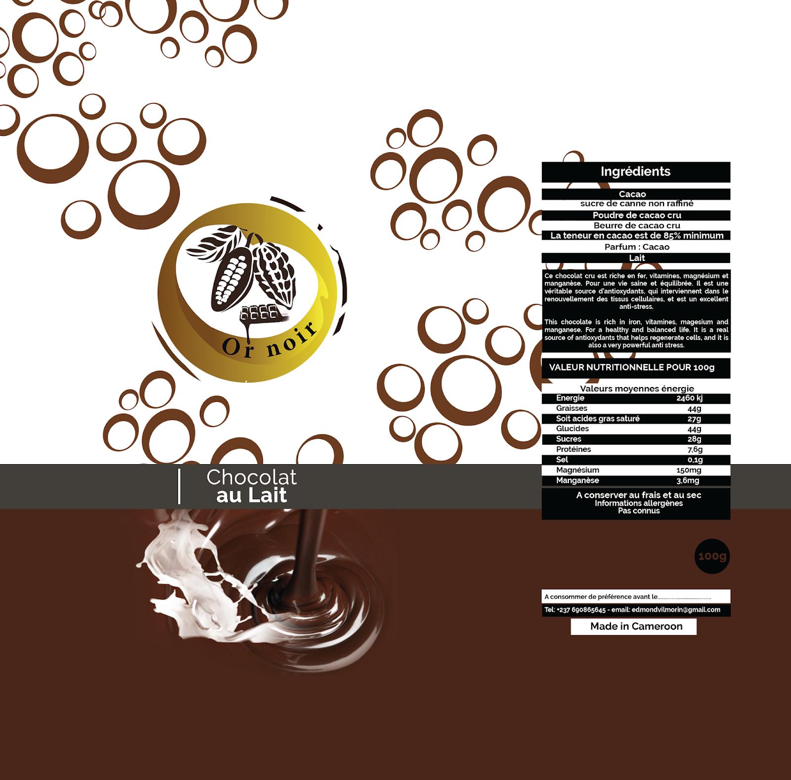 Chocolat au lait - Or noir