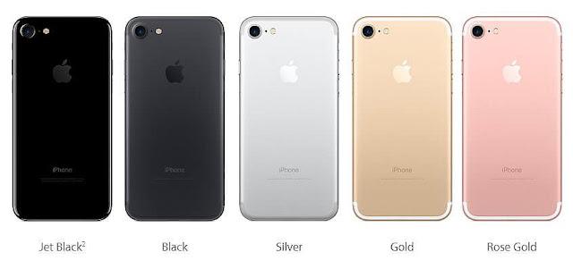 iPhone 7 renkleri
