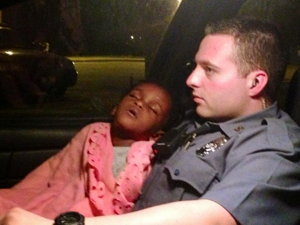 KCMO Police found a little boy wandering around alone at night