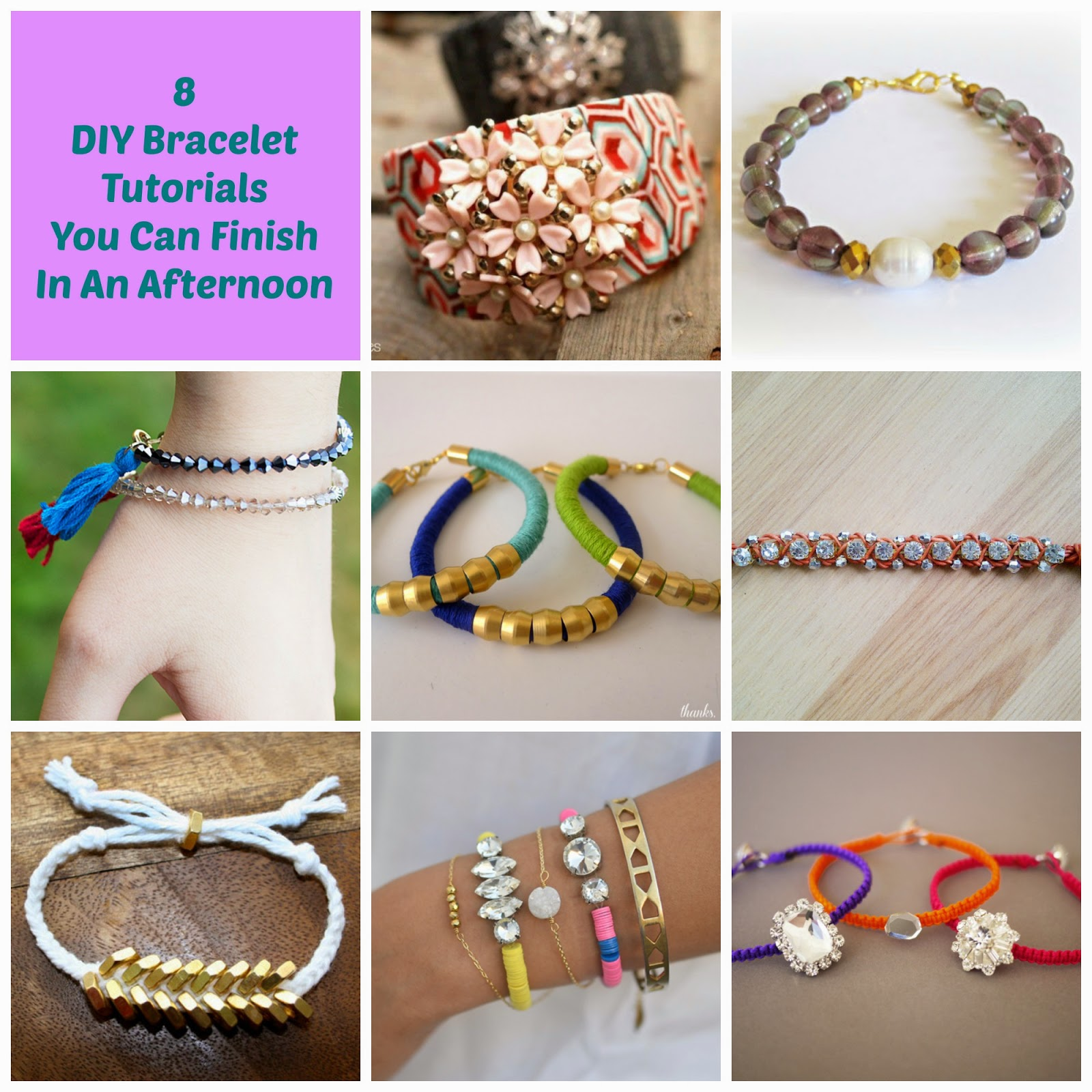 image diy bracelet tutorials roundup beaded rhinestone gem