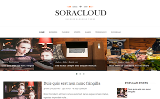 Sora Cloud Blogger Template