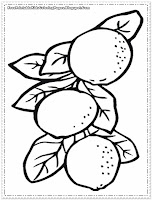 orange tree coloring pages