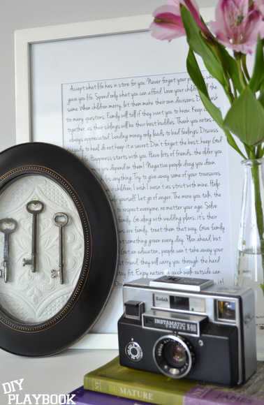 Adding sentimental artwork to your home