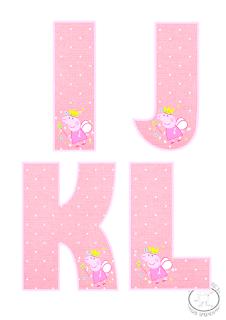letras del abecedario con peppa pig