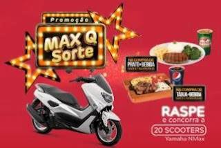 Cadastrar Promoção Griletto 2019 MAX Q Sorte 20 Scooters Yamaha NMax Raspadinha