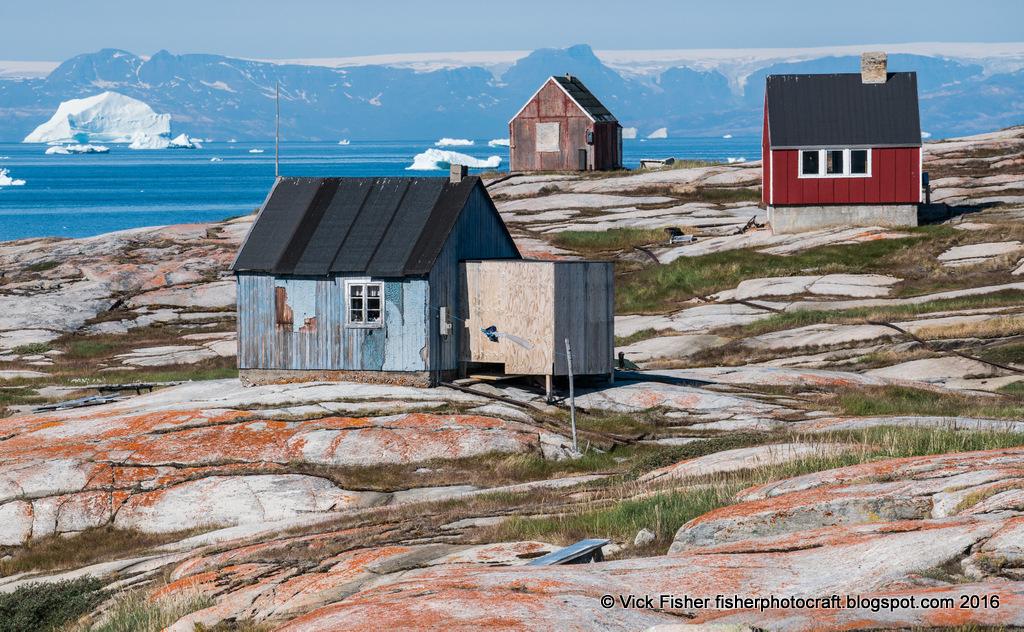 Greenland Oqaatsut village icebergs traditional small community