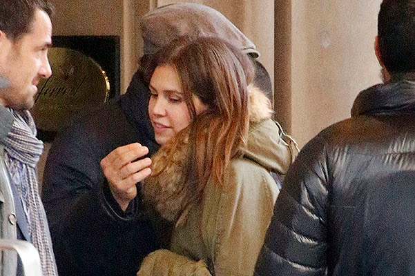 Friendly hugs: Leonardo DiCaprio and Dasha Zhukova in New York