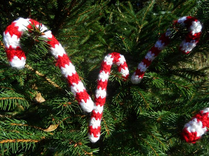 laski świąteczne szydełko