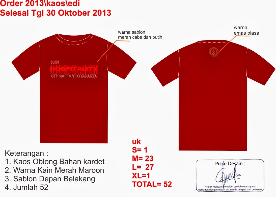 Gambar Desain Kaos Polos Merah Marun Depan Belakang Kerabatdesain