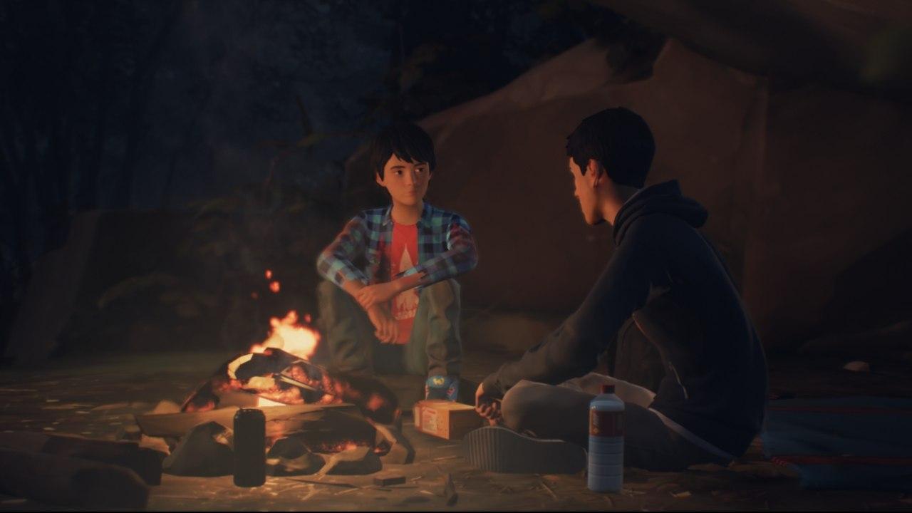 LIS 2: Sean és Daniel tábortűz mellett ülnek.