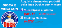 Logo Concorso ''Vinci con Duck'': in palio 168 buoni Imetec e 3 Cooking Machine Cukò