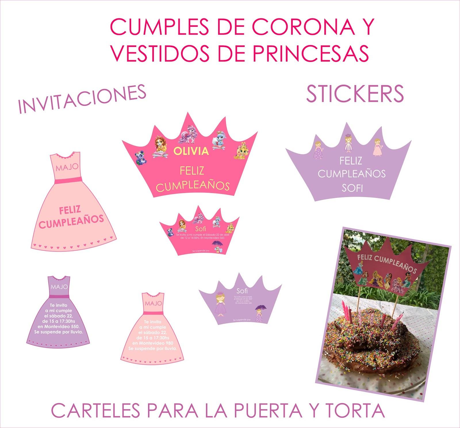 Coronas Para Decorar Cuadernos.Fantasia En Tranvia Cumples De Coronas Y Vestidos De Princesas