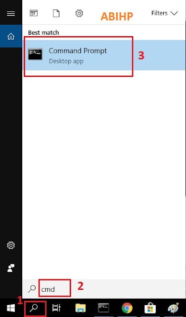 Buka dahulu command prompt untuk melihat ip address dari wifi indihome.