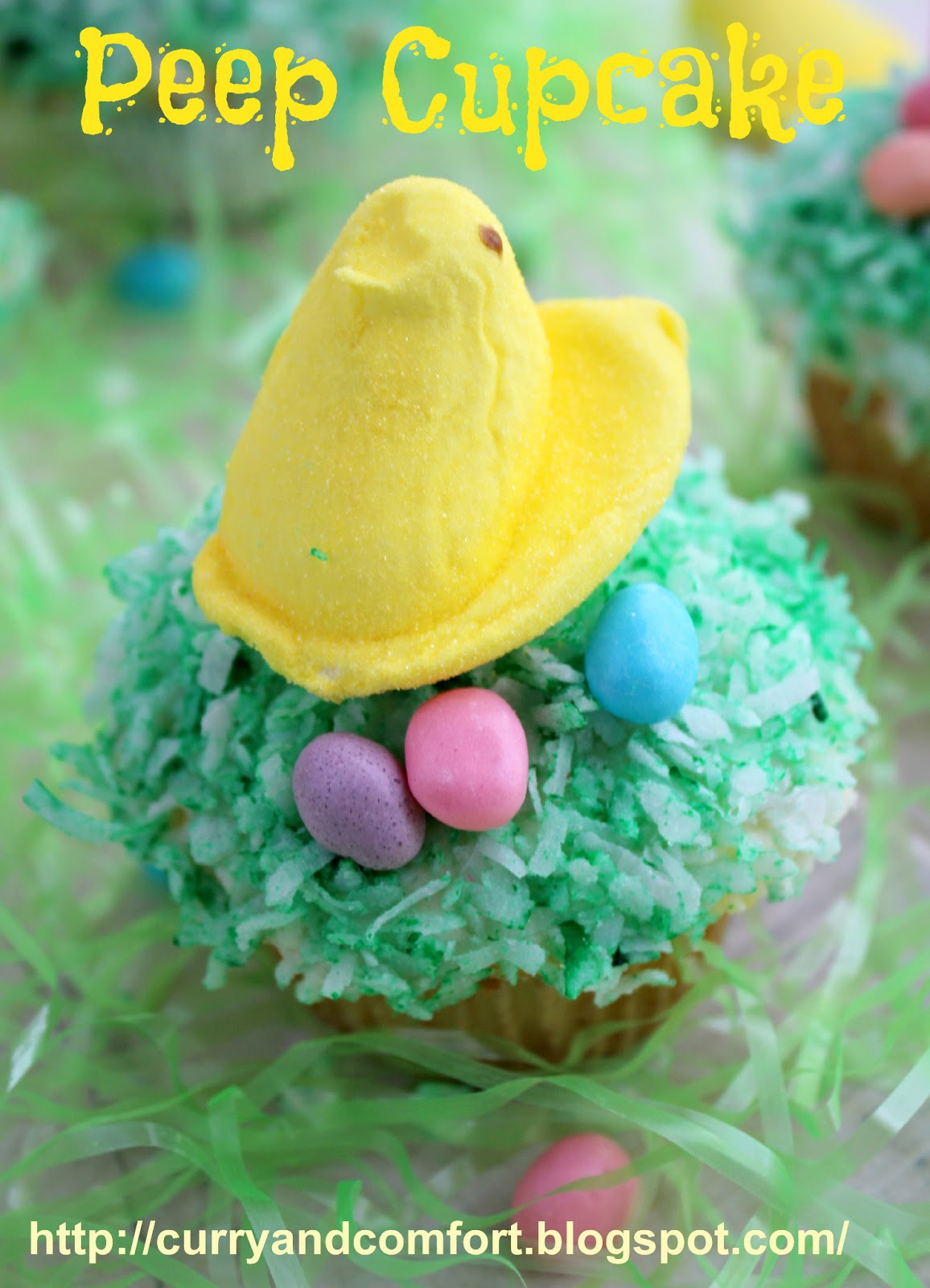 Kitchen Simmer Easter Peep And Bunny Cupcakes