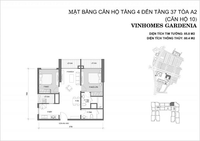 10 - Tòa A2 Vinhomes Gardenia