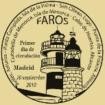 Matasellos PDC de la Hoja Bloque de Faros 2010