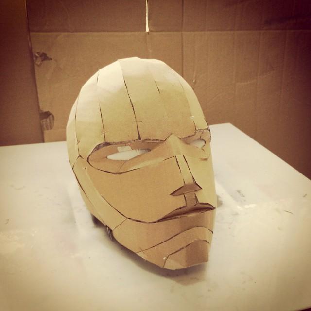 cardboard armour template - dali lomo red hood diy costume helmet free pdf template