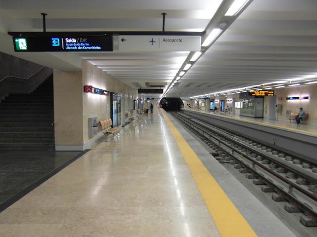 Metrô do aeroporto de Lisboa