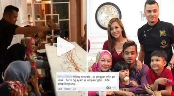 [Video] Bagi Makan Ayam Berseni Macam Ni Jugak -Hidangan Kek Raf Dibaling Atas Meja, Dato Fazley Yaakob Dikritik Kurang Beradap?