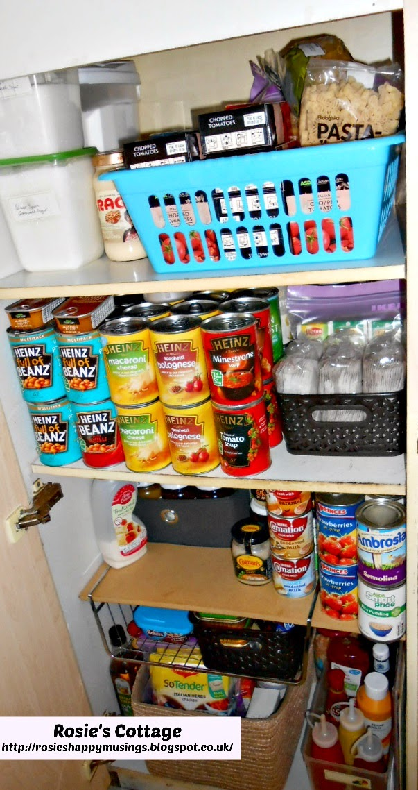 Organized pantry completed