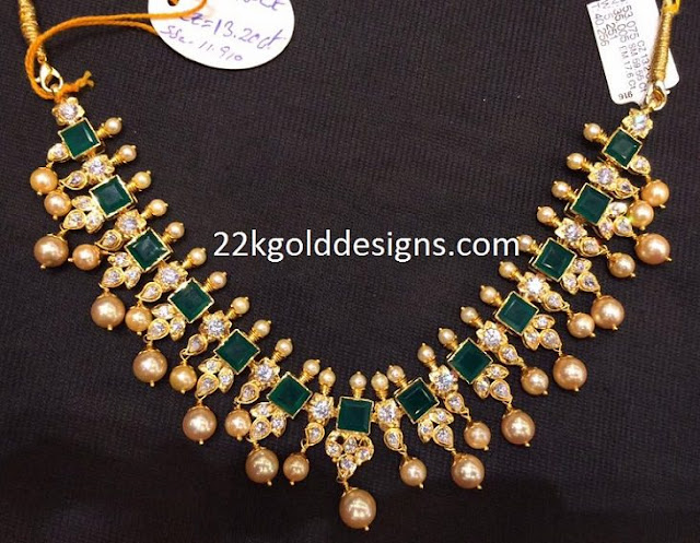 Rs.150000 Emeralds South Sea Pearls Necklace