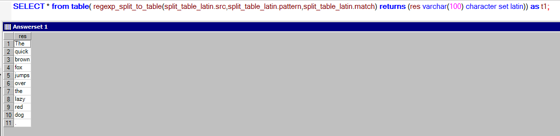 REGEXP_SPLIT_TO_TABLE