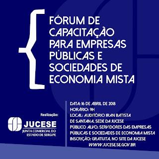 Jucese realizará Fórum de Capacitação voltado para Empresas Públicas e Sociedades Mistas