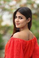 Rhea Chakraborty in Red Crop Top and Denim Shorts Spicy Pics ~  Exclusive 190.JPG