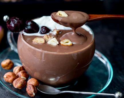 Italian Hot Chocolate with Kirsch and Hazelnuts