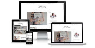 Hilary responsive blogger templates themes 2017