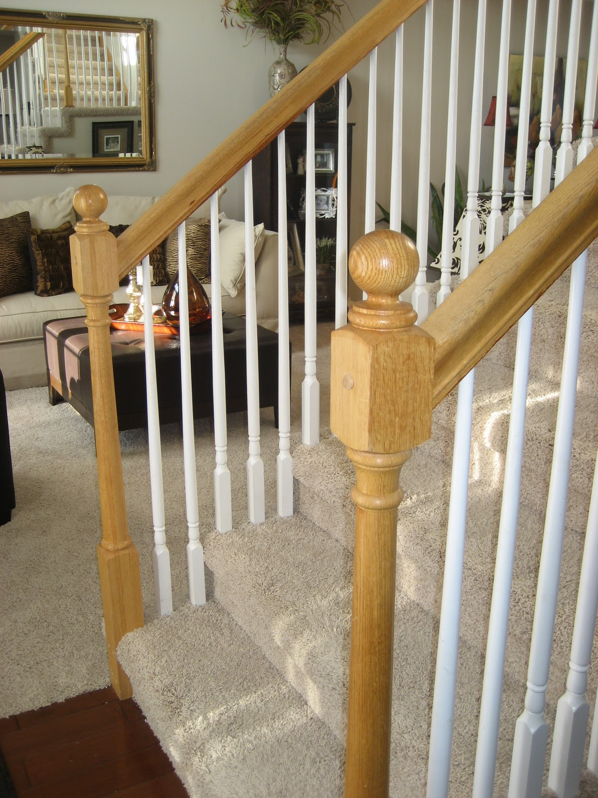 Chic on a Shoestring Decorating: How to Stain Stair ...