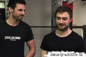 Updated: Daniel Radcliffe's testimonial for Steve Coleman Fitness