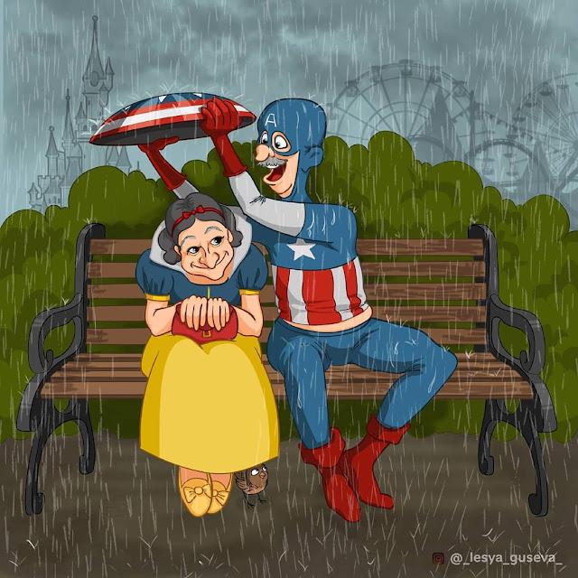 Capitão America e a Branca de Neve