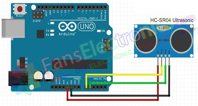Skema Sensor Ultrasonic
