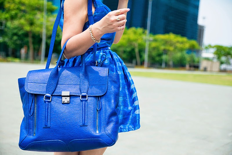Crystal Phuong- 3.1 Phillip Lim Pashli bag medium blue