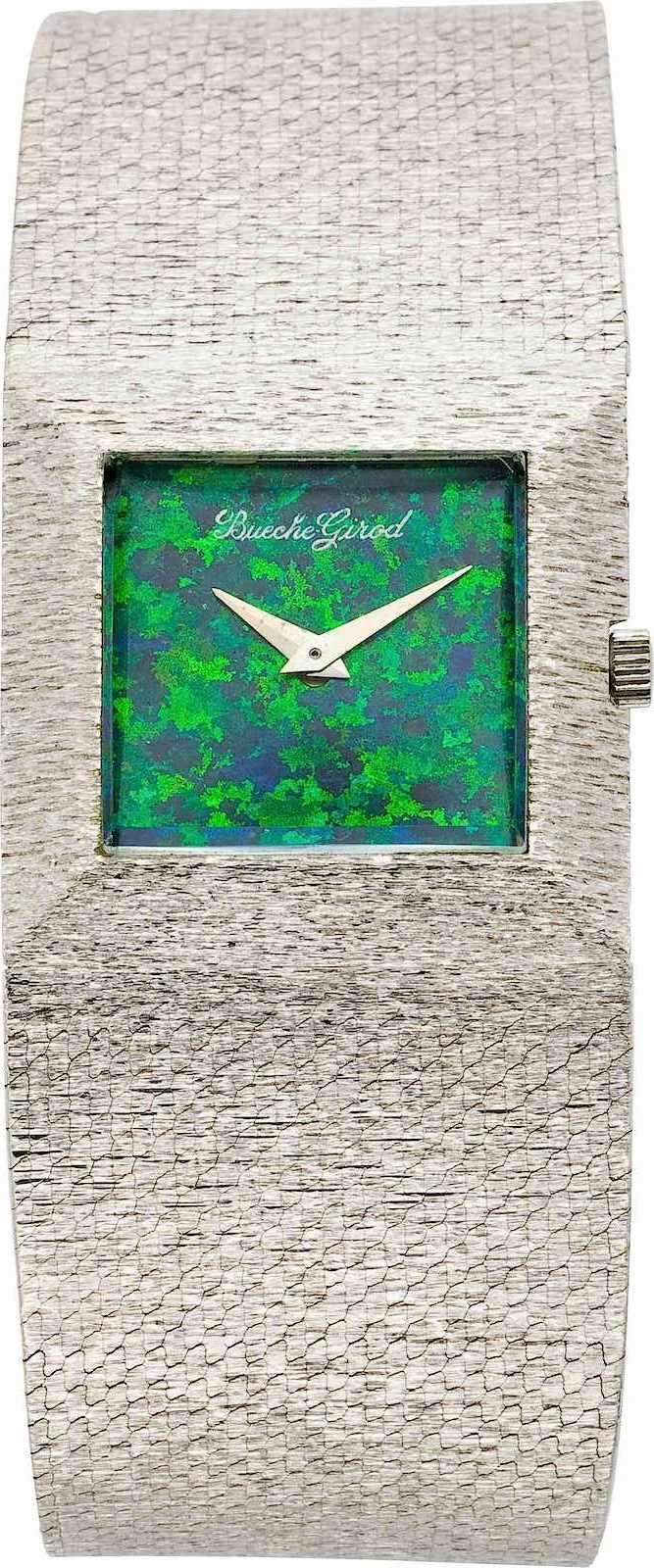 a 1975 Bueche Girod watch, color photograph