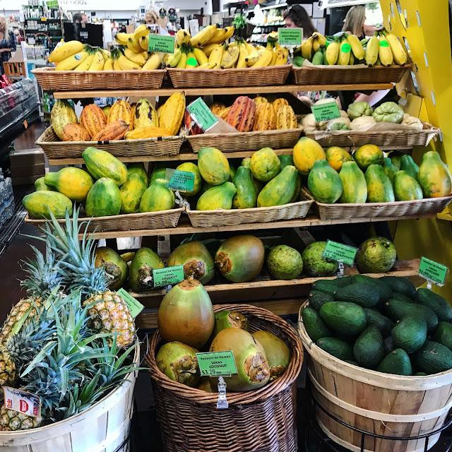 Fresh Tropical Fruit Pineapple, Coconut, Mango, Avocado, Cacao