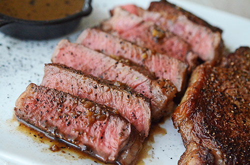 Pan seared Prime ribeye steaks recipe featuring Certified Angus Beef