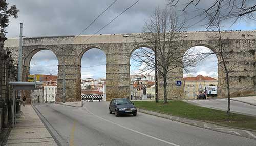 Aqueduto de São Sebastião, Coimbra, Portugal.