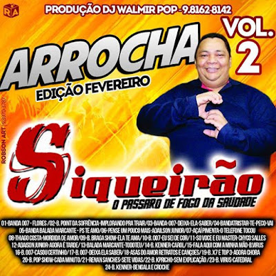 05/02/2017 CD ARROCHA VOL.02 SIQUEIRÃO